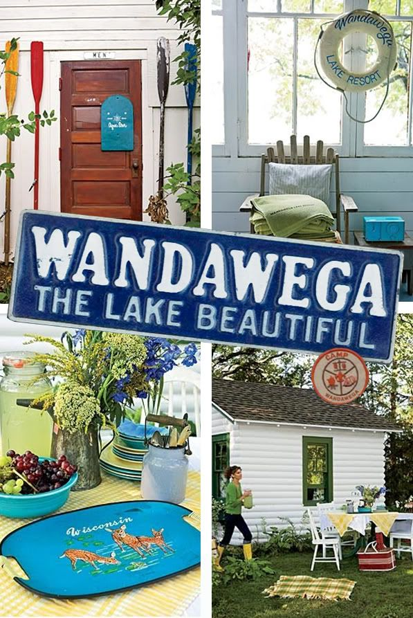 Camp Wandawega, WI - This place looks like a dream! A vintage 50s dream!!