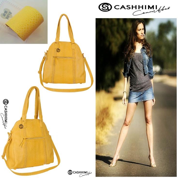 Cashhimi Yellow LAFAYETTE Python Clutch
