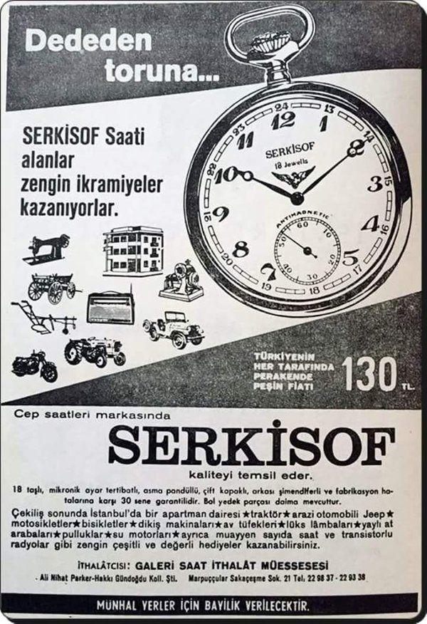 Eski bir saat reklamı (1967) #birzamanlar #istanlook #nostalji
