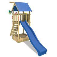 Marvelous WICKEY Smart Tower Spielturm Kinder Garten Holz Kletterger st Rutsche Sandkasten