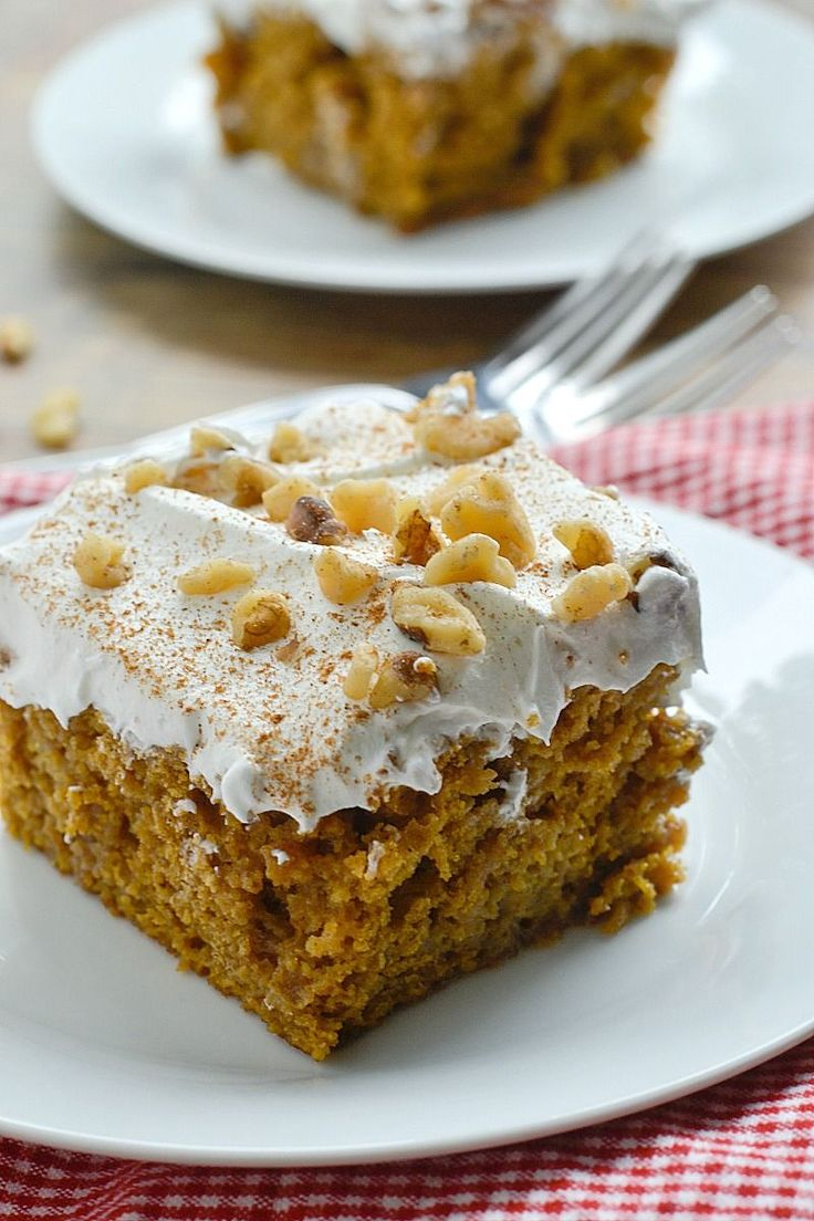 Love anything pumpkin spice? Then you are going to love this easy recipe for Better Than Anything Pumpkin Spice Cake that uses store bought spice cake mix and pumpkin puree and is soaked in condensed mix and caramel sauce and topped with cool whip. It's truly better than anything!