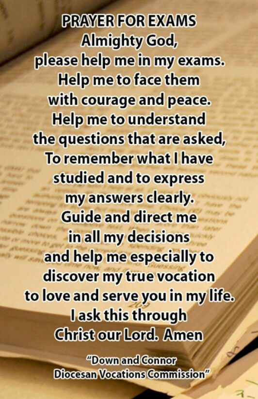 Prayer for exams