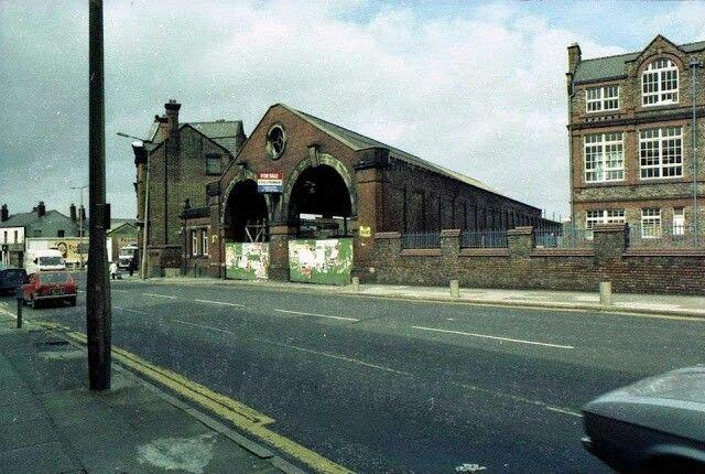 Old tram sheds green Lane deposit and St Anne's school prescot road old swan.