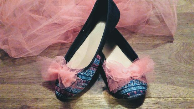 #baleriny #diy #shoes #bow #tulle #pink