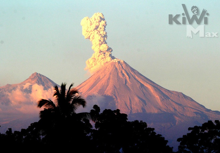 Volcán de Colima que de hecho está en Jalisco