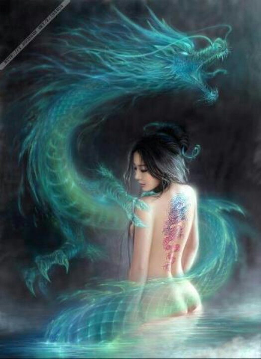 Blessed Be the Dragon MaidenMystic, Chine Dragons, Magic, Dragons Lady, Fantasy Art, Beautiful, Dragons Art, Green Dragons Tattoo, Dragons Spirit
