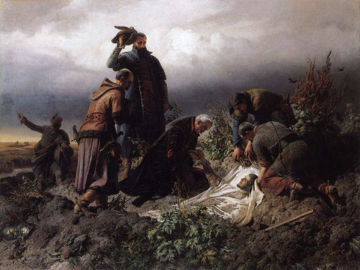 Bertalan Székely - Discovery of the Body of Louis II following the Battle of…