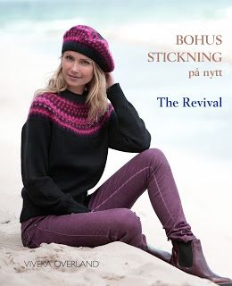 Newly launched book, September 2015. Bohus stickning på nytt - The Revival. History, bohus knitting today, yarn development, 14 patterns. Richly illustrated. Launched by Bohusläns Museum, Sweden