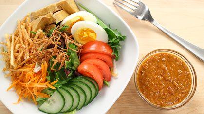 Thai Peanut Salad Dressing สลัดแขก Salad Kaeg