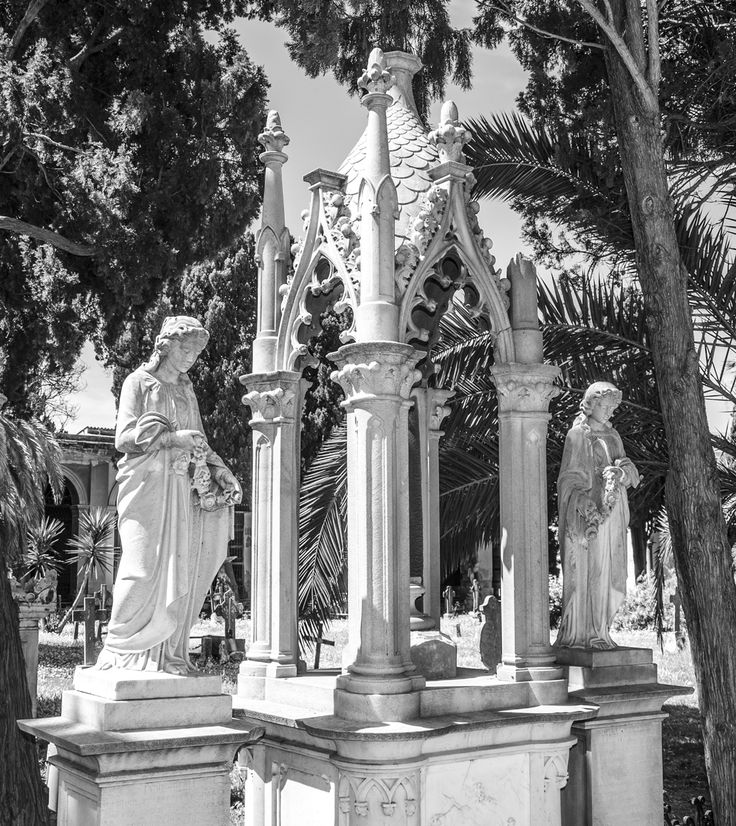 The Monumental cemetery of Bonaria is one of the most evocative places of the city of Cagliari, and it stretches from the base to the top of the hill of Bonaria, on an area dedicated to the necropolis already in the Punic, Roman and Early Christian periods.  Info: http://goo.gl/mnT8L3   Credit: Marco Valerio Loi