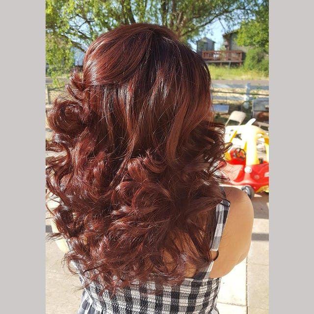 Trieste Red Hair Color Deep Reddish Mahogany Brown Hair Dye Redish Brown Hair Wine Hair Hair Color Auburn