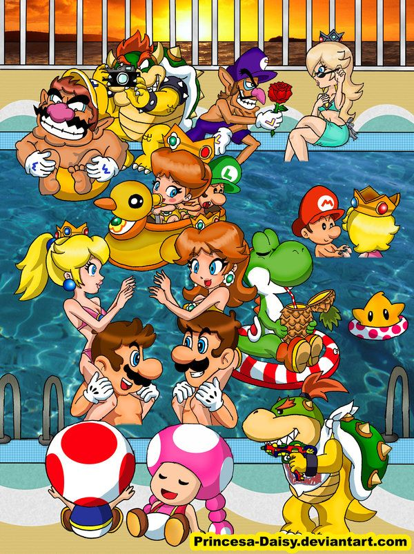 Mario Gang Summer Time 2011 by Princesa Daisy. Makes you want summer to get here…