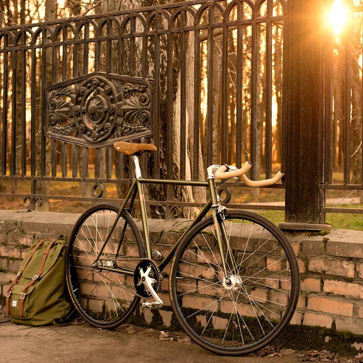 Custom Lis lugged steel track bicycle