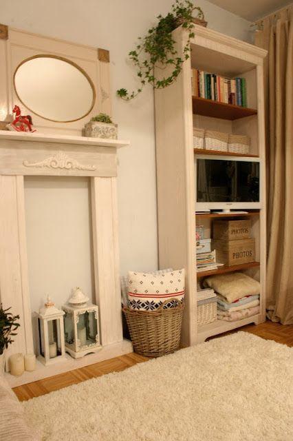 My little white Home: Atrapa kominka - robi się
