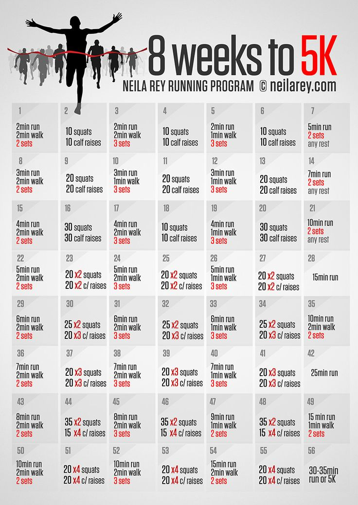 8 weeks to 5K- this website has it all. Running, eating, HIIT workouts, etc.
