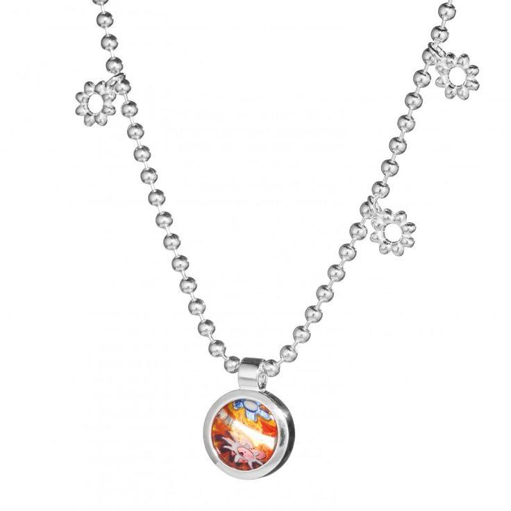 Kalevala Koru / Kalevala Jewelry / Millefiori-riipus / Millefiori Pendant / Design Kirsti Doukas / Silver & glass