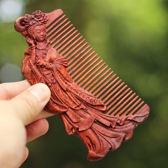 Классический Ручной Работы, резные деревянные расчески, Анти выпадение волос персик дерево гребень Уход За Волосами инструмент щетка для волос подарки для валентина женский день