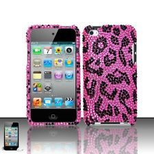 justice ipod cases for girls   ... Leopard Apple iPod Touch 4th Generation Iced Bling Hard Case Cover