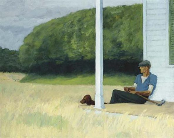 Clamdigger by Edward Hopper, 1935
