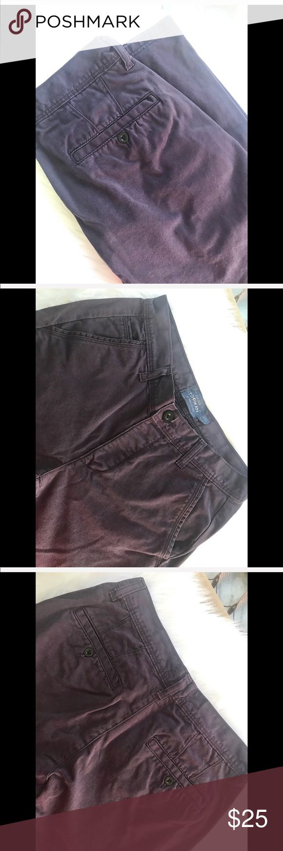 """Topman Skinny Chino Jeans Waist 30"""" Full length 40"""" Inseam 29"""" Leg opening 7""""  100% Cotton  NO TRADES 🙅🏻 ALL REASONABLE OFFERS ARE ACCEPTED 😊👍🏽 NO LOWBALLERS!!! 😒✌🏽️✌🏽 LET'S BUNDLE!!!! 🎋🎉🎁🎊🎈  🌹(53) Topman Jeans Skinny"""