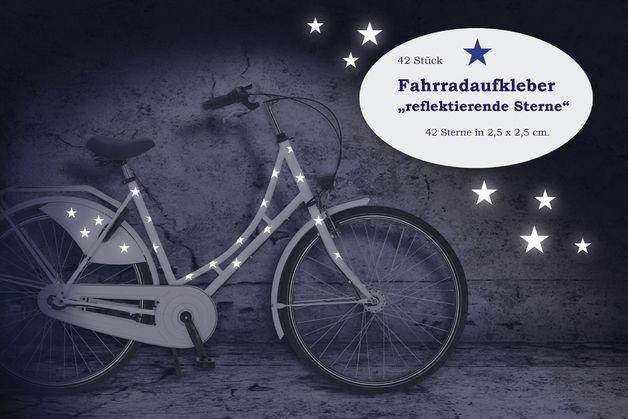 http://de.dawanda.com/product/76050935-Reflektor-Fahrradtattoo-Sterne-42-Stueck-Sticker