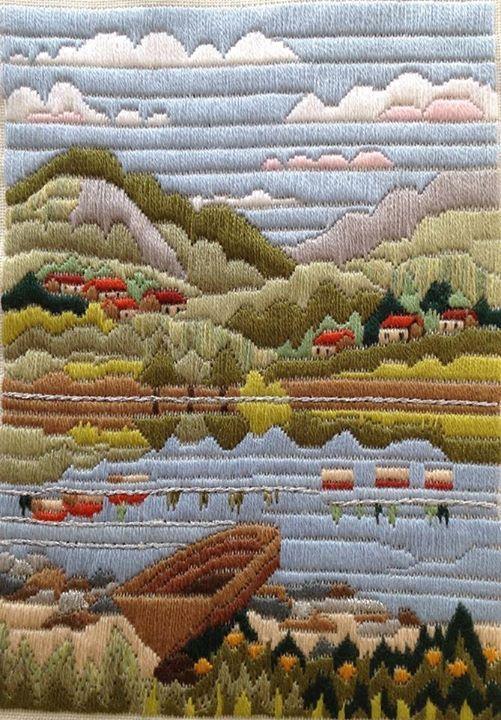 Berrin Şengöz atölyesi- Long stitch embroidery