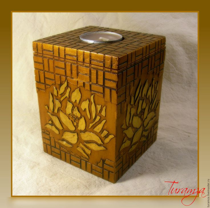 """Купить Короб для чайных свечей """"Лотос"""" - короб для свечей, для чайныйх свечей, короб-подсвечник, для свечей"""