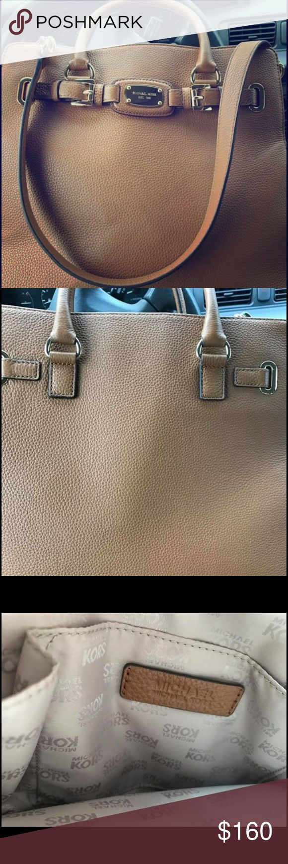 Large Brown Michael Kors Purse New used only 1 time... too big for me... no rips watermarks or tears... came from Michael Kors store... will show receipt to serious inquiries only! Michael Kors Bags Totes