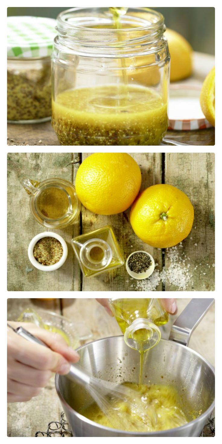 Der fruchtig-intensive Zitrusgeschmack dieser Vinaigrette passt perfekt zu Blattsalat: Leichte Vinaigrette (Grundrezept) | http://eatsmarter.de/rezepte/leichte-vinaigrette