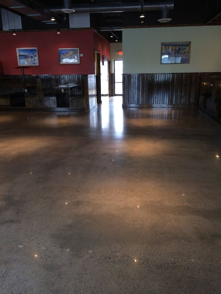 Commercial concrete polishing in Searcy, Arkansas.