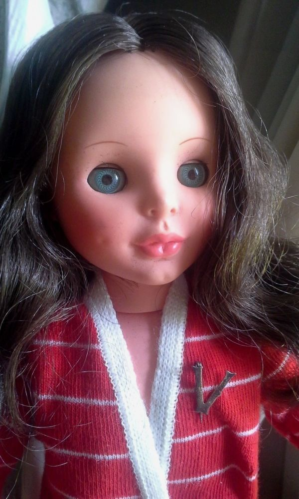 "Vintage 1960s Furga Italy Vittoria e Valentina Brunette 14 + "" Doll Sterling Pin #DollswithClothingAccessories"
