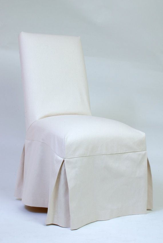 Whte Nat Custom Parsons Chair Slipcover