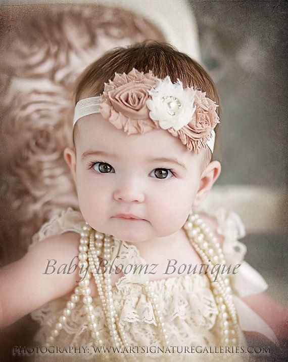 Baby Headband Ivory Beige