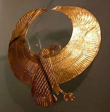 The Ancient Egyptian vulture pectoral found on the head of the mysterious Pharaoh in tomb KV55