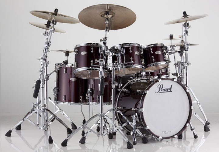 famous+pearl+drum+kits | Pearl Drum Set - Pearl Reference Pure Series Drum Set
