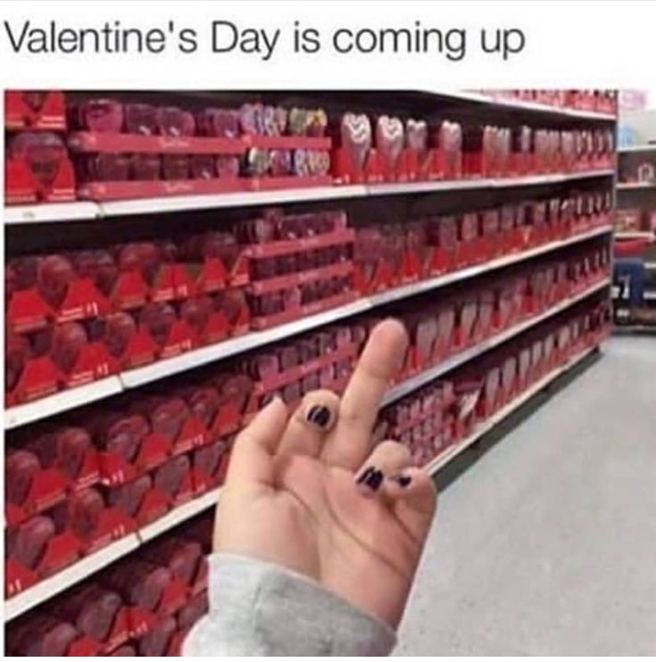 Stupidest holiday ever companies make a profit off of chocolate flowers and cards there is no meaning to it. You should celebrate love everyday so if you expect your significant other to get you something you're retarded