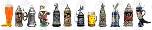 Limited Edition Beer Steins - German Beer steins which are produced in a strict Numbered Limited Edition.