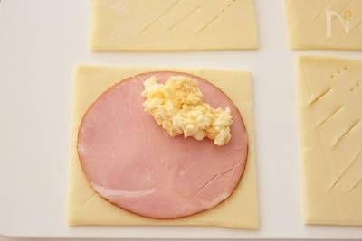 朝ごはんやランチ、おやつやお弁当にも!冷凍パイシートで作る、ハムと卵のお手軽パイ。