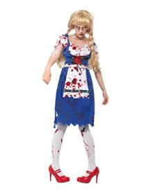 Bavarian zombie Halloween costumes for couples - women's outfits