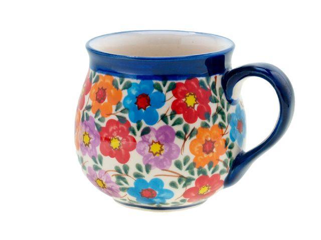 Happy bubble mug by Ceramika Millena, Polish pottery. <3 <3