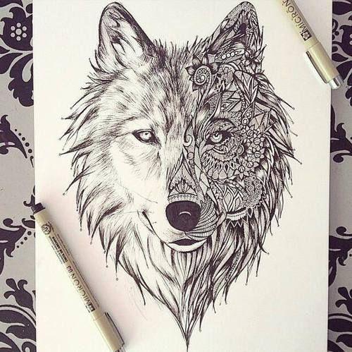Impressão Desenho Do Lobo em Canvas | Impressão em Lona Esticada