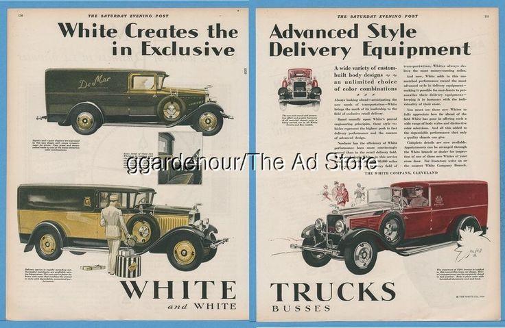 1928 de mar new york demar delivery truck white motor co for Motor vehicle philadelphia pa