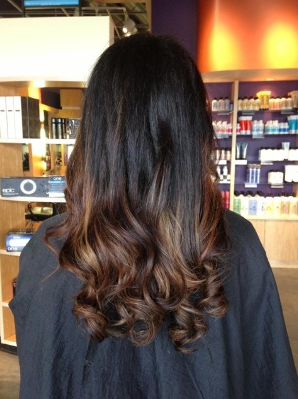 Ombré hair from dark brown to light brown. | Dream hair ...