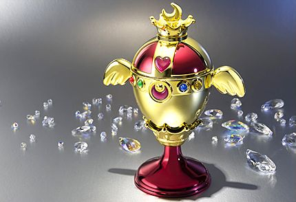 Official Sailor Moon Rainbow Moon Chalice / Holy Grail Proplica! Info and links here http://www.moonkitty.net/buy-bandai-tamashii-nations-proplica.php