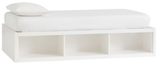 Pottery Barn Teen Store-It 3-Cubby Daybed, Twin, Water-Based Brushed Charcoal