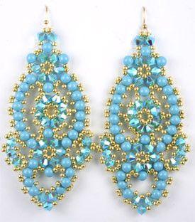 Flamenco Earrings Beadweaving Kit - Beads Gone Wild Beading Kits and Tutorials 10