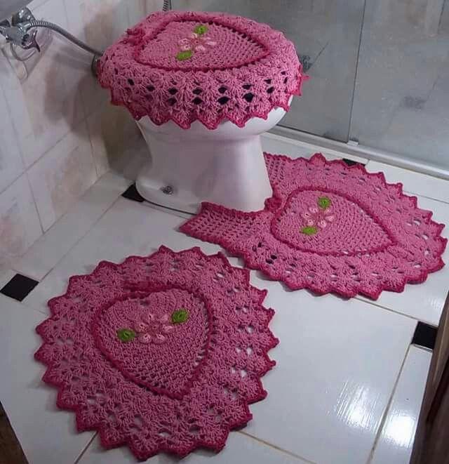 Set De Baño A Crochet Patrones:Blondas A Crochet Para Cortinas Patrones