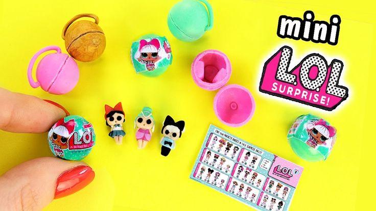 DIY Miniature LOL Surprise Dolls | mini LOL for dolls tutorial | DollHou… – Lucy's bday party