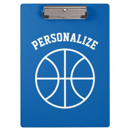Personalized basketball coach sport accessories clipboard