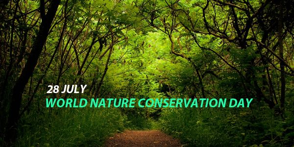 Celebrate World Nature Conservation Day on 28 July and take a pledge to prefer environment friendly activities. #WorldNatureConservationDay http://www.worldcelebrationdays.com/world-nature-conservation-day-28-july/
